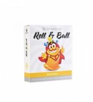 Стимулирующий презерватив с шариками Roll & Ball с ароматом банана (1 шт)