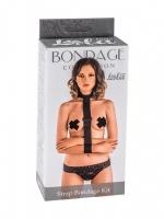 Ошейник с длинной лентой и наручниками Strap Bondage Kit (Plus Size)