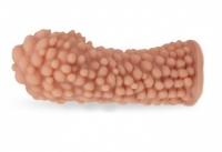 Стимулирующая насадка на пенис с пупырышками KOKOS (размер L, вторая кожа)