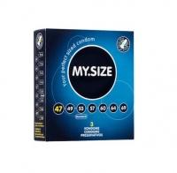 Презервативы латексные MY.SIZE ширина 47 мм (3 шт)
