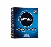Презервативы латексные MY.SIZE ширина 49 мм (3 шт)