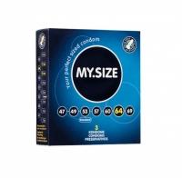 Презервативы латексные MY.SIZE ширина 64 мм (3 шт)