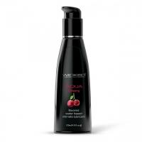 Съедобный лубрикант на водной основе Wicked AQUA Cherry (вкус сладкой вишни) 120 мл