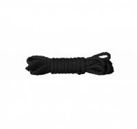 Черная веревка Kinbaku Mini Rope серии OUCH! (1,5 метра)