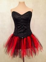 Пышная мини-юбочка красно-черного цвета