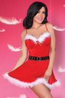 Кокетливое новогоднее платьице на косточках с пухом марабу Meredith SM