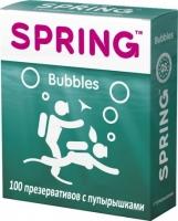 Презервативы SPRING Bubbles с пупырышками и ароматом тутти-фрутти (100 шт)