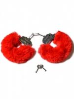 Шикарные наручники с пушистым красным мехом Be Mine