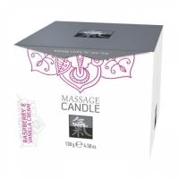 Массажная свечка с ароматом Малины и Ванили (130 г)