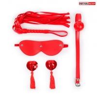 Красный BDSM набор Notabu (4 предмета)