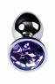 Малая серебристая втулка с кристаллом сиреневого цвета Toyfa