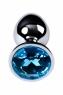 Малая серебристая втулка с кристаллом цвета топаз Toyfa