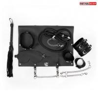 Набор для BDSM-игр в кожаном кейсе Notabu BDSM (6 предметов)