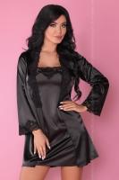 Черный атласный комплект Jacqueline SM