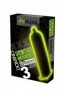 Латексные неоновые презервативы Luxe DOMINO NEON (3 шт)