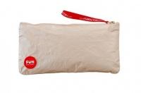 Золотистая сумочка на молнии для секс-игрушек TOYBAG (размер M)