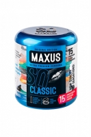 Классические презервативы MAXUS в фирменном круглом кейсе (15 шт)