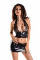 Комплект из бюстье на шнуровке с кружевом и юбочки Gigi S