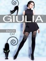 Игривые колготки с кошечками и имитацией ботфорт Enjoy Cat L (4) 60 Den