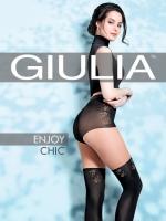 Фантазийные колготки с имитацией чулок и высоких трусиков Enjoy Chic (2) 60 Den
