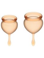 Набор менструальных чаш с хвостиком-капелькой Feel Good Menstrual Cup Orange