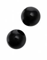 Черные вагинальные шарики из стекла Sexus Glass