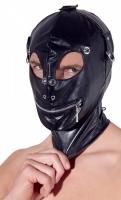 Эластичный шлем со шнуровкой для сенсорной депривации Imitation Leather Mask by fetish collection
