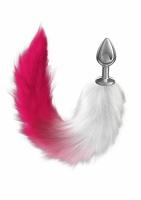 Небольшая анальная пробочка с пушистым хвостом Diamond Galaxy Pink