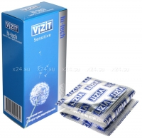 Презервативы VIZIT Hi-tech SENSITIVE сверхчувствительные, 12 шт.