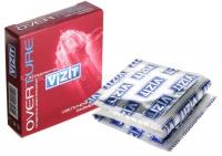 Презервативы VIZIT OVERTURE увеличенного размера, 3 шт.