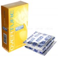 Презервативы VIZIT OVERTURE (мята, банан, клубника), 12 шт.