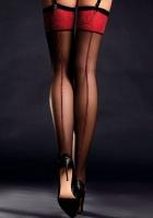 Чулочки под пояс Scarlett с красной резинкой и швом сзади 20 Den 2 (S)