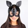 Кожаная маска с ушками