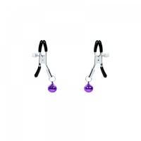 Зажимы на соски с фиолетовыми бубенцами