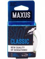 Классические презервативы в прозрачном кейсе MAXUS Classic (3 шт)