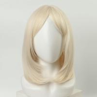 Парик удлиненное каре с чёлкой и имитацией кожи (30 см)
