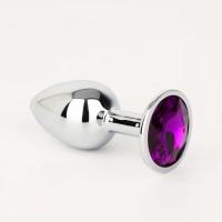 Небольшая серебрянная пробка с фиолетовым кристаллом Kanikule