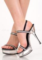 Туфли черные со стразами 38