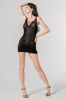 Кружевное мини-платье с цветочным принтом
