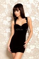 Платье черное стрейчевое с открытой спиной S