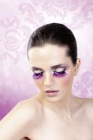 Ресницы фиолетовые длинные