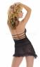 Мини-платье сетчатое черное