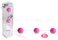 Трехрядные анальные шарики фиолетовые Funny Five