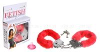 Наручники красные Beginner's Furry Cuffs