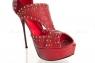 Туфли бордовые с заклепками 39