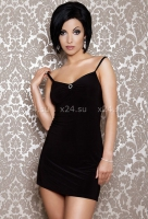 Платье черное вечернее со стразами ML