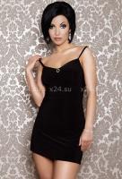 Платье черное вечернее со стразами