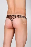 Стринги мужские леопардовые со шнуровкой 48