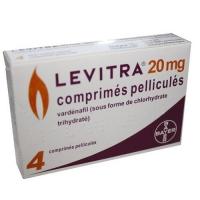 Левитра мужские - препарат для восстановление эрекции ( Варденафил 20 мг ) 1 упак. 4 табл.