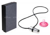 Кулон-вибратор Mini Bullet Necklace серебряный с черным